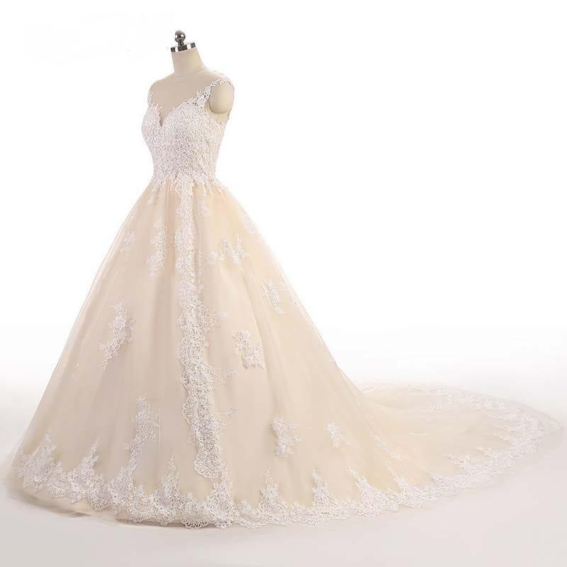 Luxury Lace Off Shoulder Princess Wedding Dress