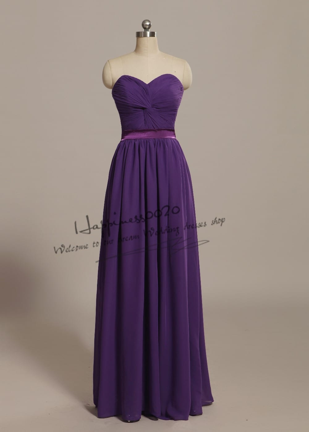 Elegant Sage Floor Length Chiffon Bridesmaid Dress