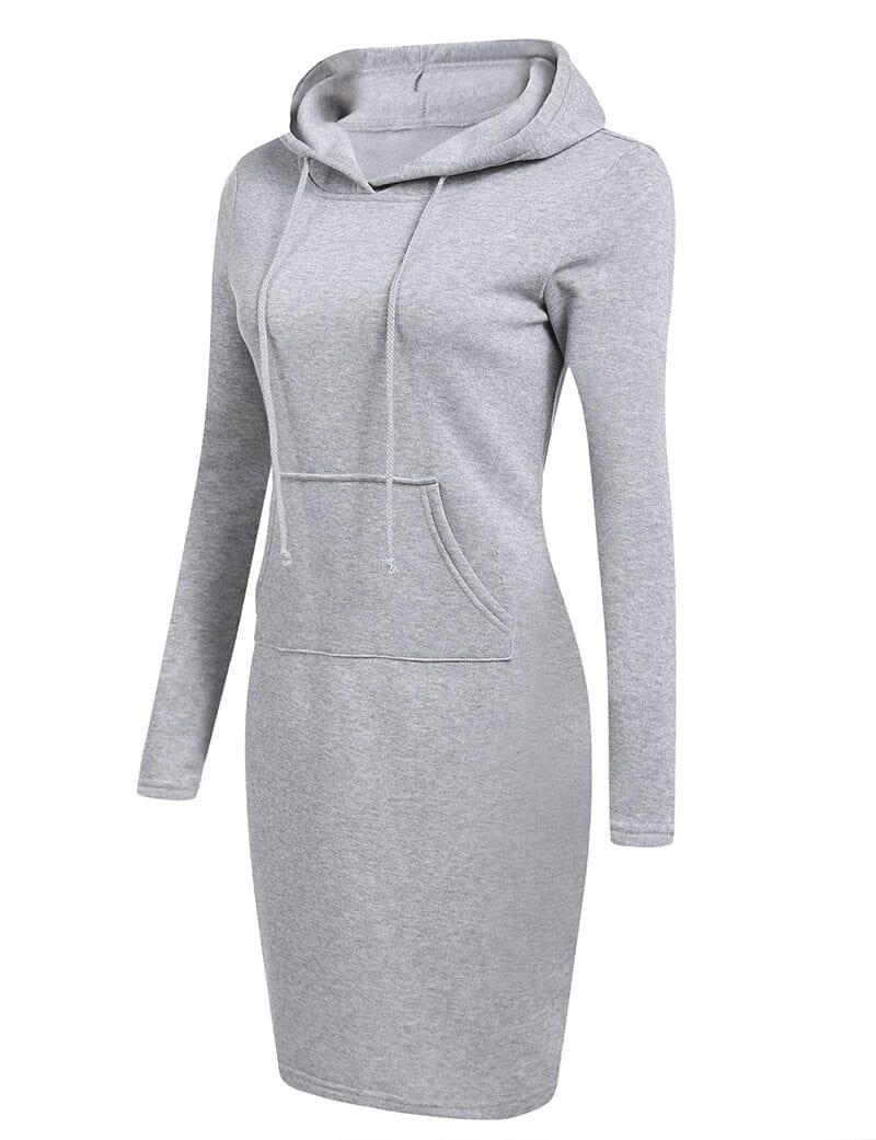 Long Sleeve Sweatshirt Hooded Dress
