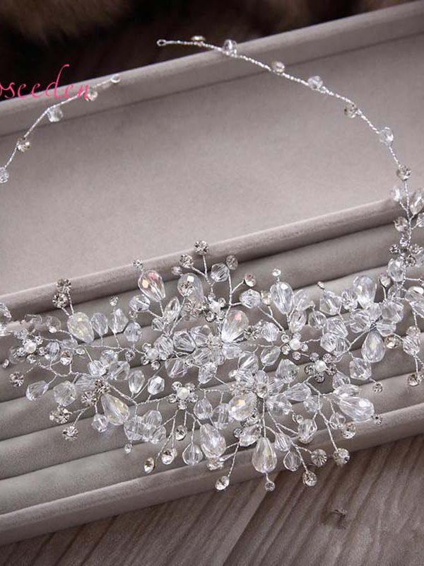 Crystal Beads Bridal Wedding Hair Ornaments Wedding Accessories