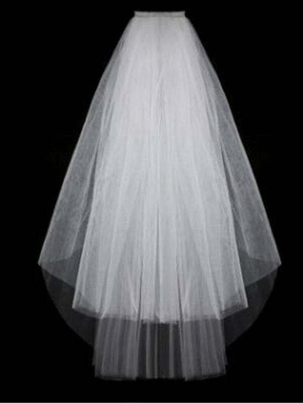 White Ivory Short Tulle Wedding Veil Wedding Accessories