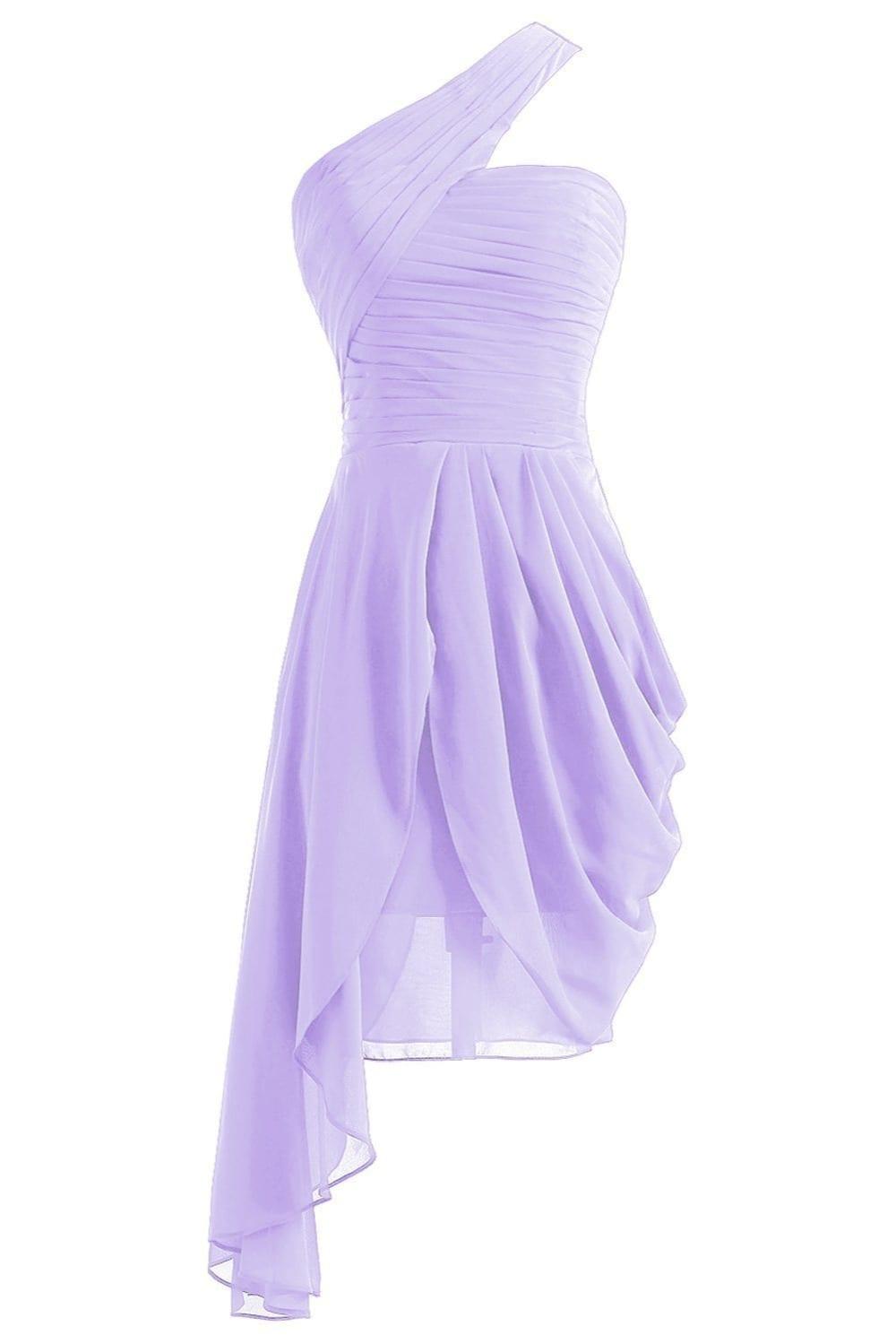 Elegant Sleeveless Knee Length Short Chiffon Bridesmaid Dress
