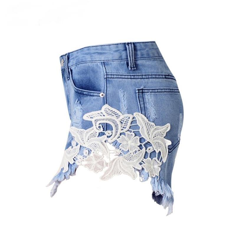Vintage Ripped Pocket Denim Shorts
