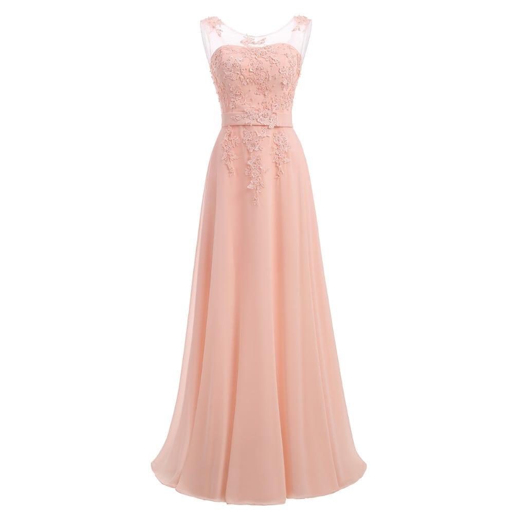Lavender Chiffon Long Bridesmaids Dress