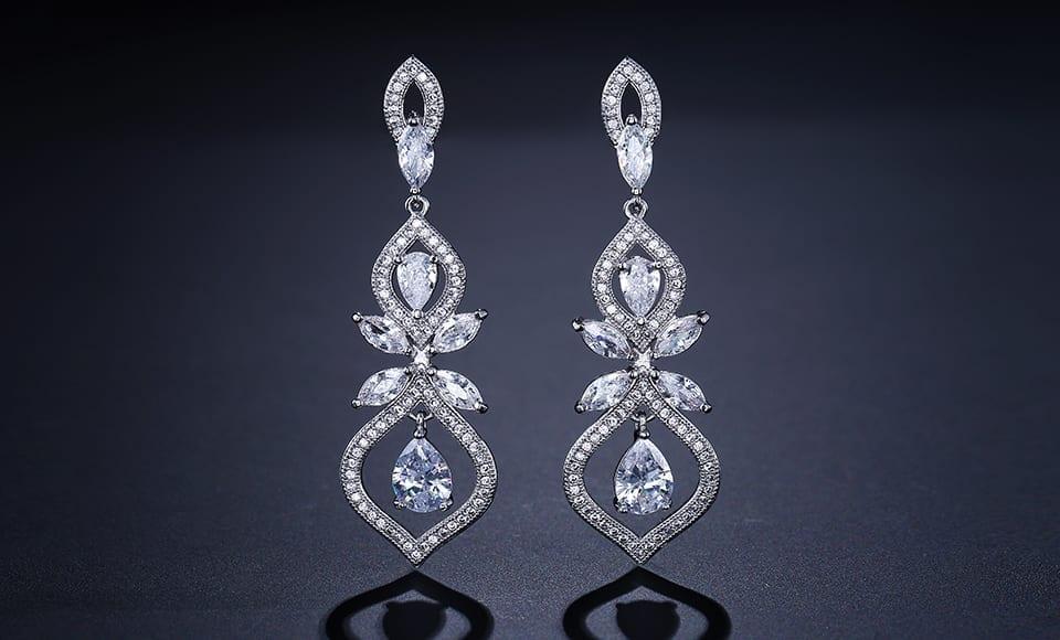 Chandelier Dangles Drop Earrings Wedding Jewelry