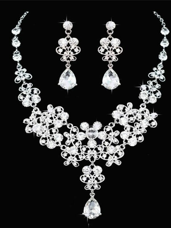 Crystal Wedding Bridal Jewelry Set
