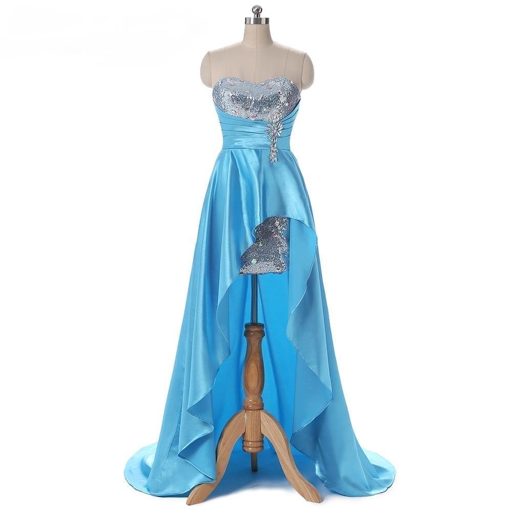 Satin Long Bridesmaid Dress