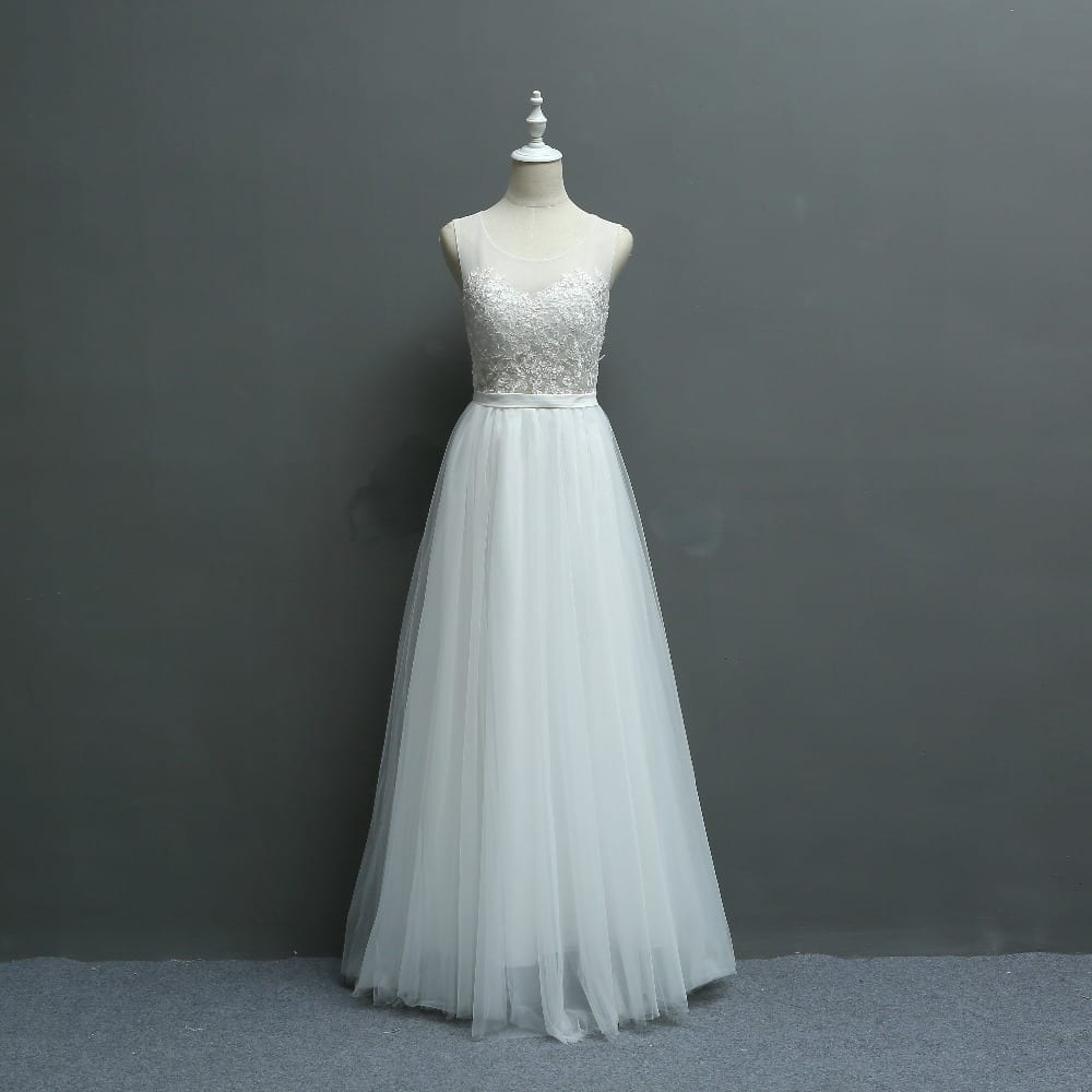 Embroidery Lace Wedding Bridesmaid Photograph Dress - Uniqistic.com