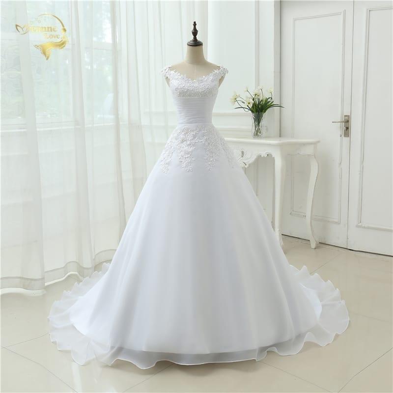Vintage Boho A Line Cap Sleeves Lace Beach Wedding Dress