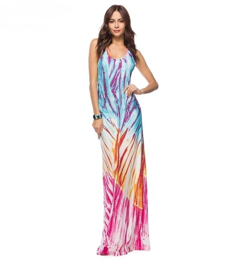 Elegant Boho Floor Length Bodycon Beach Maxi Dress