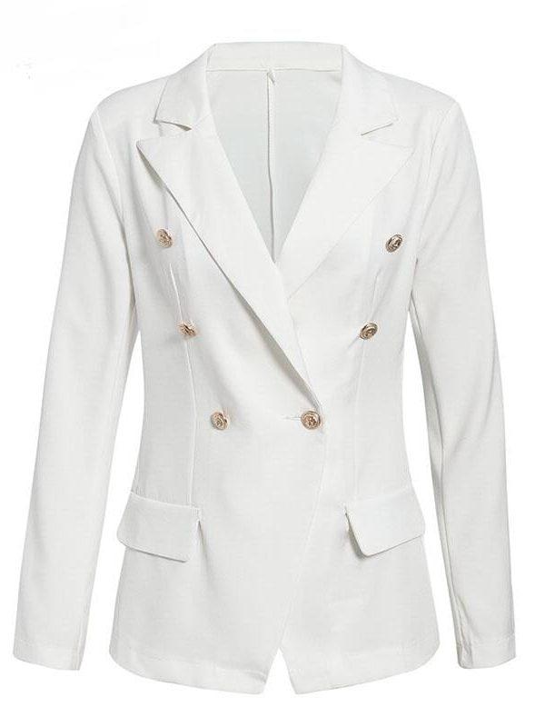 Elegant White Pink Black Office Jacket