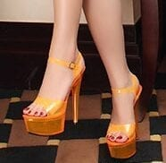 Neon Platform High Heels Open Toe Sandals Pumps