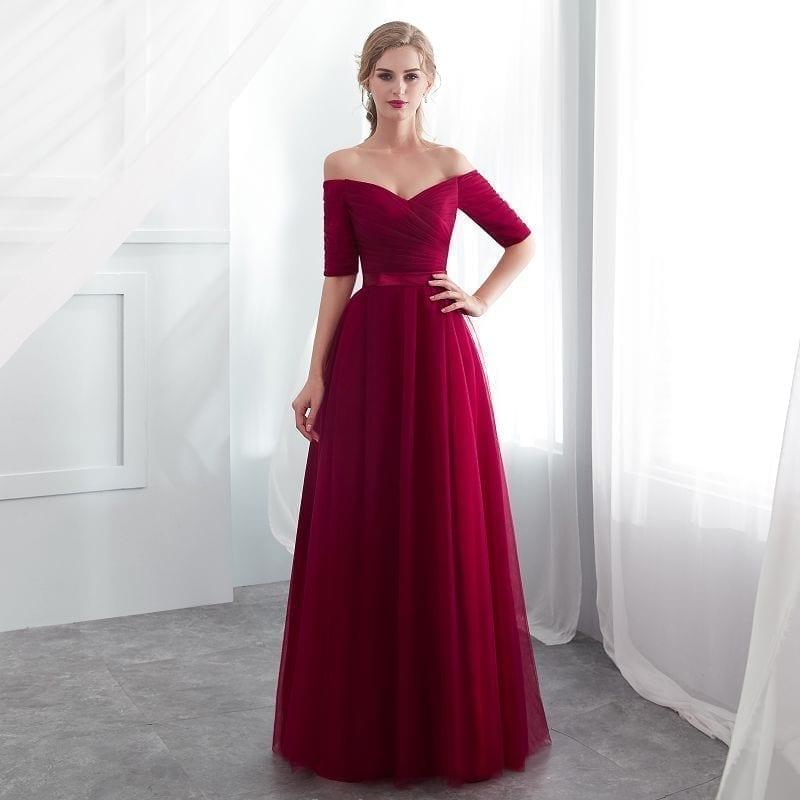 Royal Blue Chiffon Sleeveless Long A-line Bridesmaid Dress
