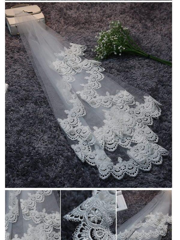 Lace Edge 1.5 M Long Wedding Veil Wedding Accessories