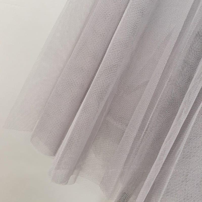 A-line High Waist Pleated Tulle Skirt