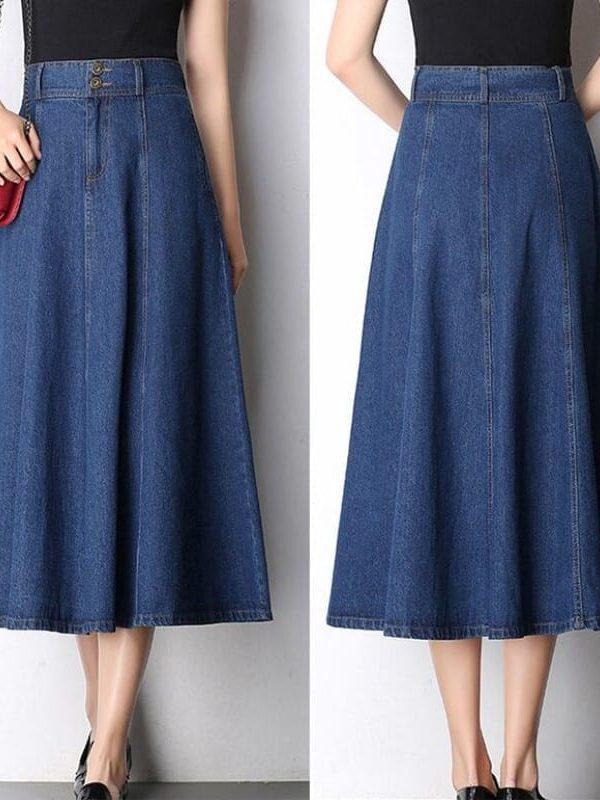 High Waist Denim Skirt