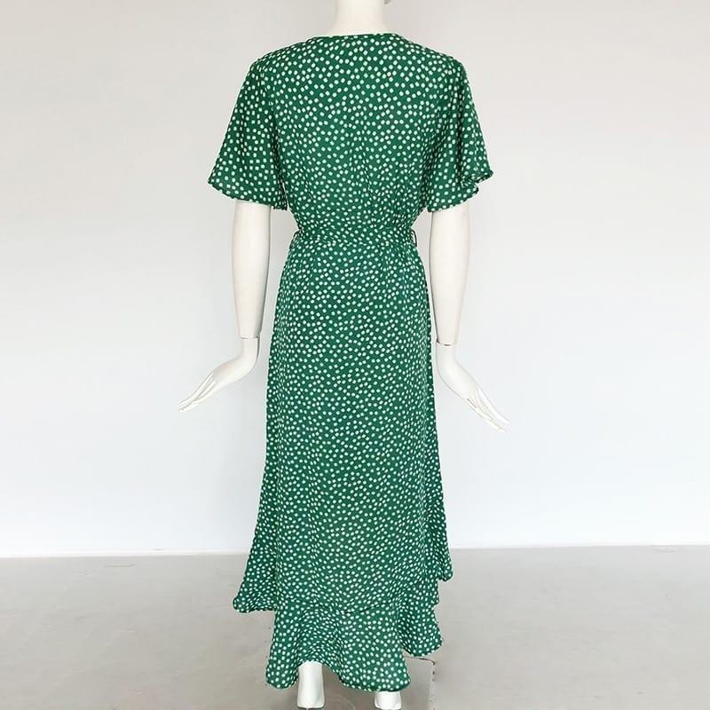Floral Print Boho Long Dress