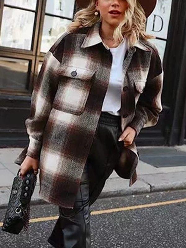Long sleeve woolen coats