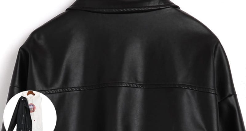 2019 New Arrival Women Autumn Winter Leather Jacket Oversized Boyfriend Korean Style Female Faux Coat Outwear Black