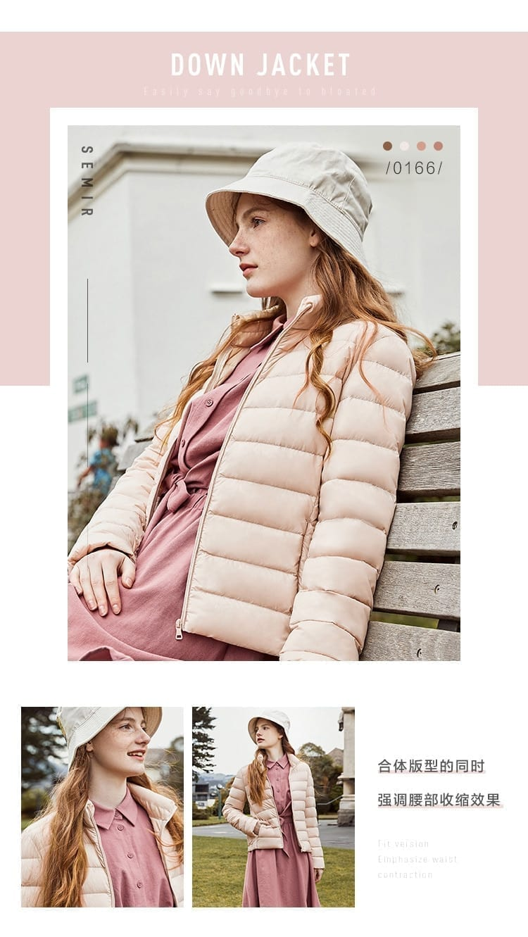 SEMIR 2020 Winter Down Jacket Women Short Jackets New Down Hooded Warm Autumn Slim Coat for Female Casual Tops winter jackets