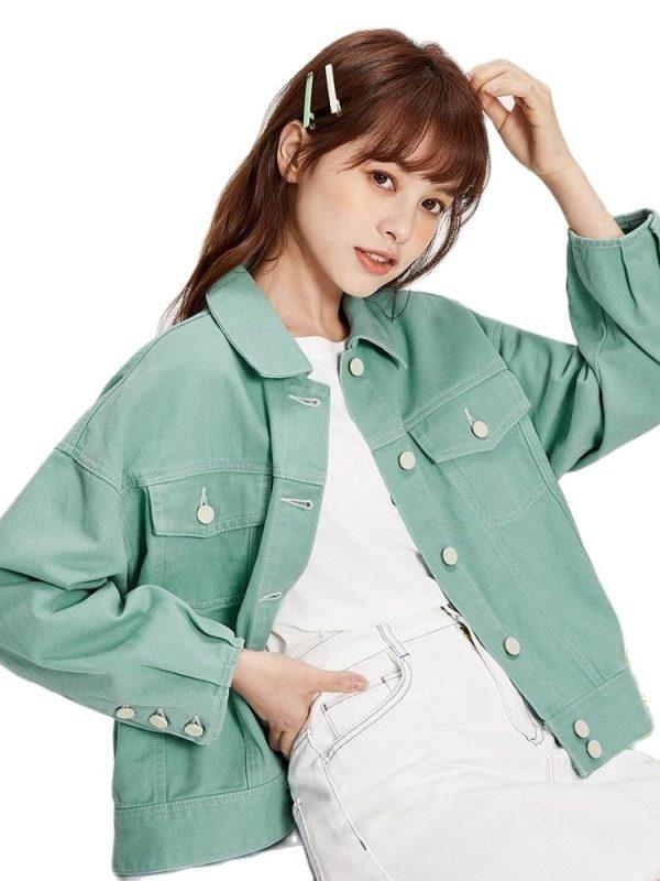 Retro short denim jacket