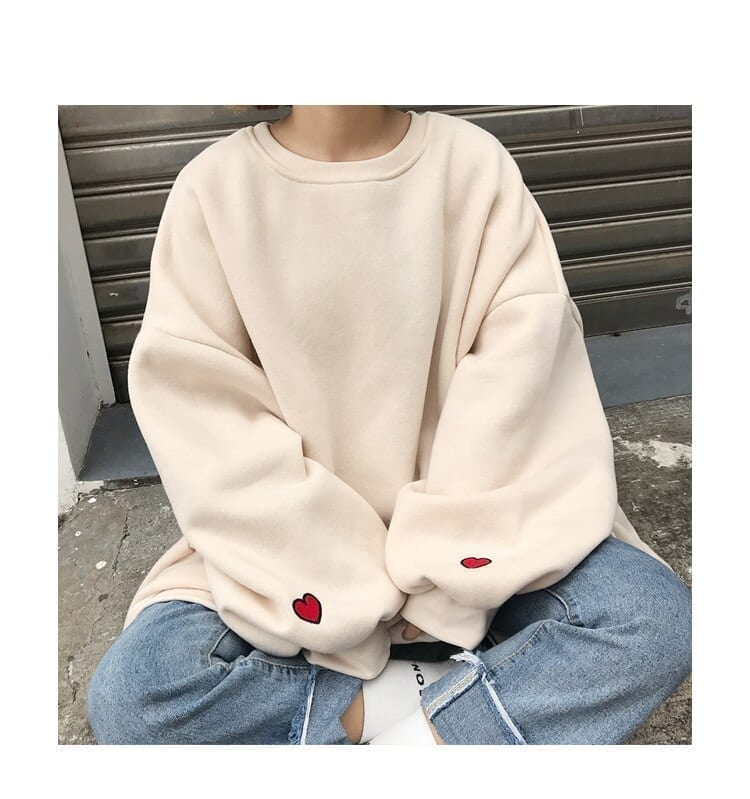 Hoodies Women 2020 Harajuku Large Size Trendy Solid O-neck Womens Pullover Students Long Style Full Sleeve Ladies Sweatshirts