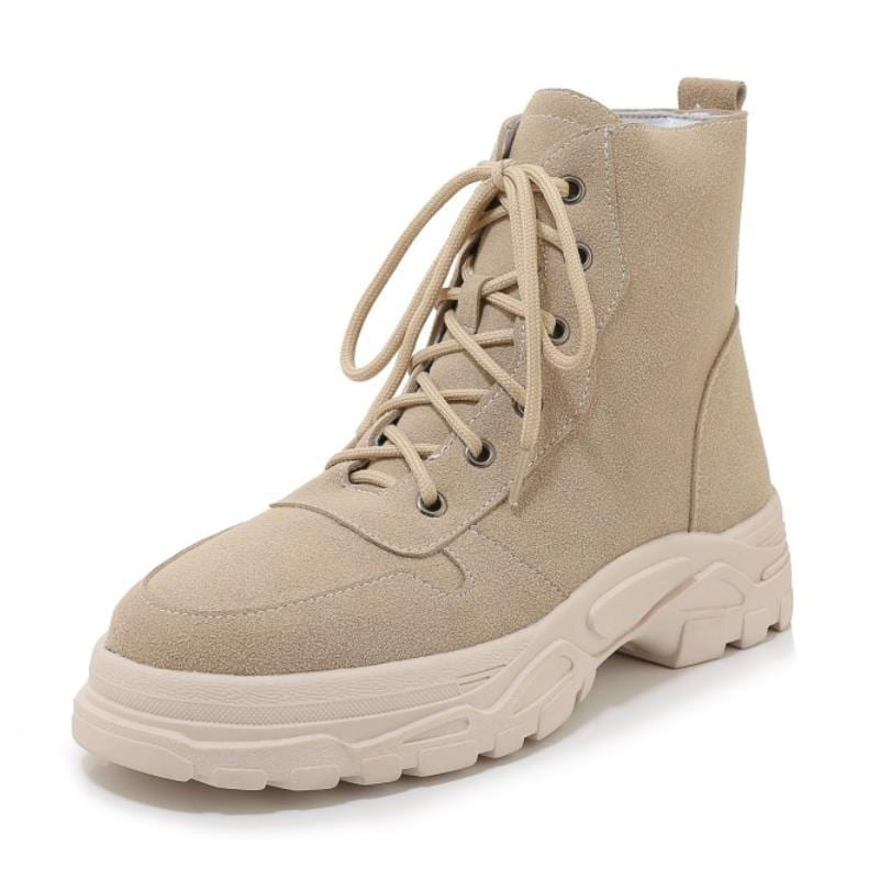 Taoffen Women Warm Ankle Boots New Fashion Thick Sole Casual Shoes Women Winter Shoes Short Snow Footwear Size 29-43