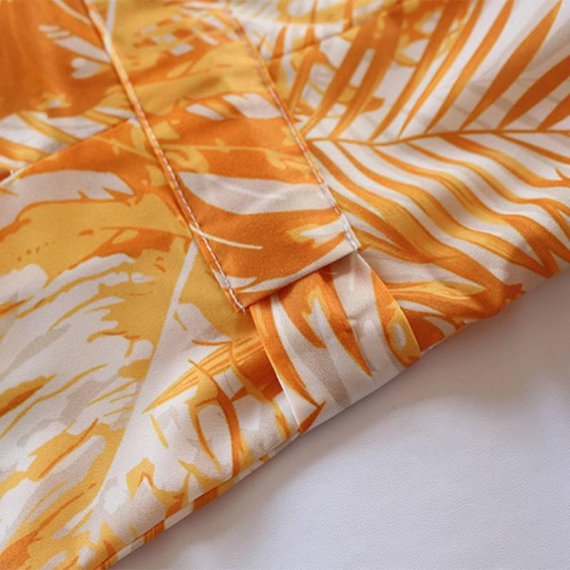 Beach boho floral printed tie waist long sleeve plus size maxi dress