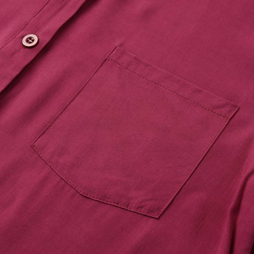 Boho solid rolled long sleeve button shirt maxi long sundress