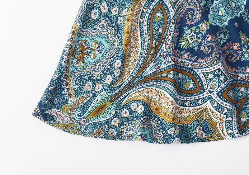 TEELYNN boho dress 2019 floral print maxi desses V-neck long sleeve hippie floor-length beach wear Gypsy women dresses Vestidos