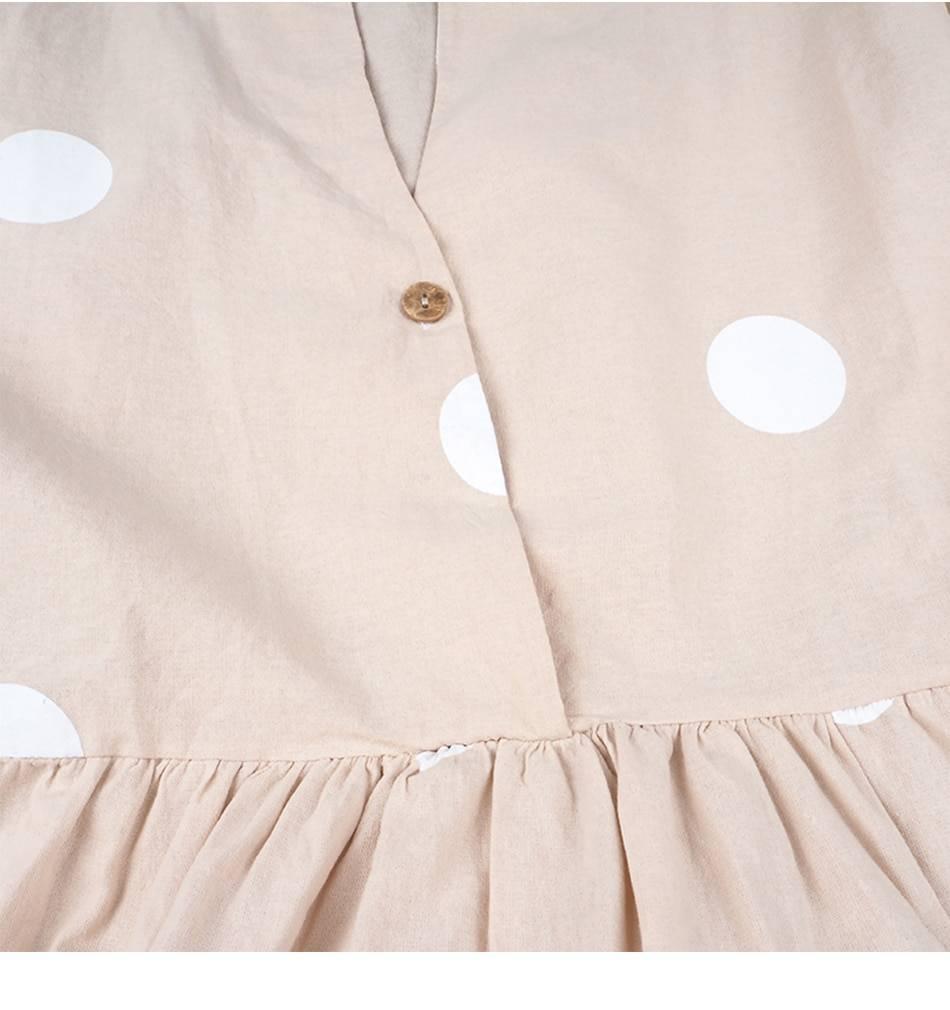 Polka Dot Maxi Dress V-Neck Long Sleeve Casual Boho Beach Dress Plus Size Women Fashion Elegant Button Down Loose Office Dress