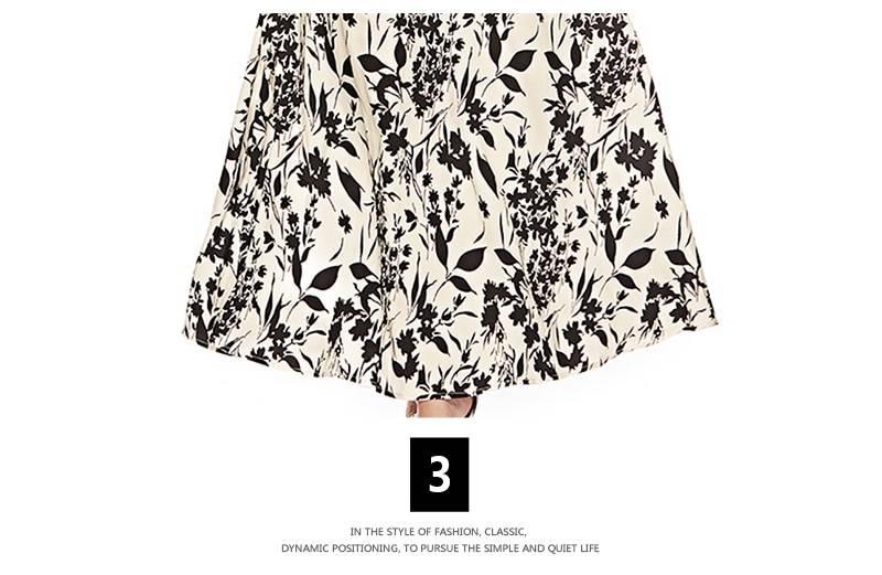 S.FLAVOR Women Slim Long Dress Autumn Fashion Plus Size 3/4 Sleeve O Neck Floral Print Boho Maxi Dress Elegant Party Vestido
