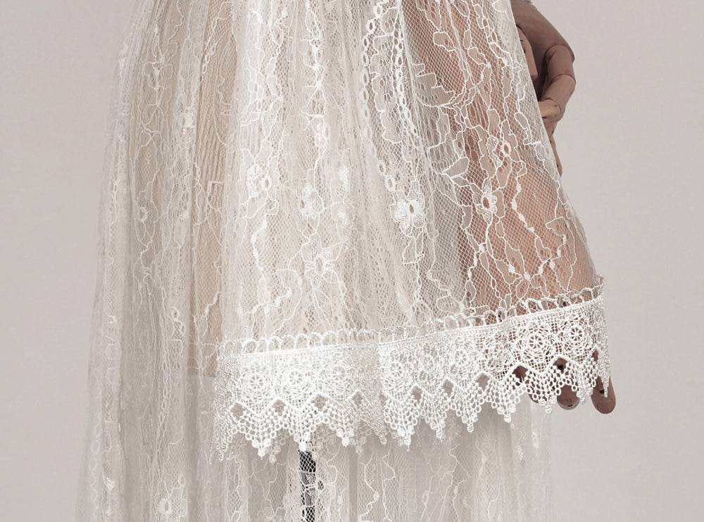 2020 Spring Boho Casual Women Maxi Dresses Long Sleeve V Neck Vintage Vestidos Backless Sexy Solid White See Through Lace Dress
