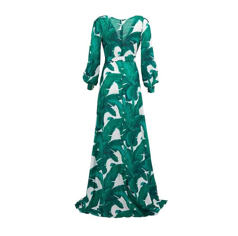 AECU Long Sleeve Dress Tropical Beach Vintage Maxi Dresses Boho Casual V Neck Belt Lace Up Tunic Draped Plus Size Dress