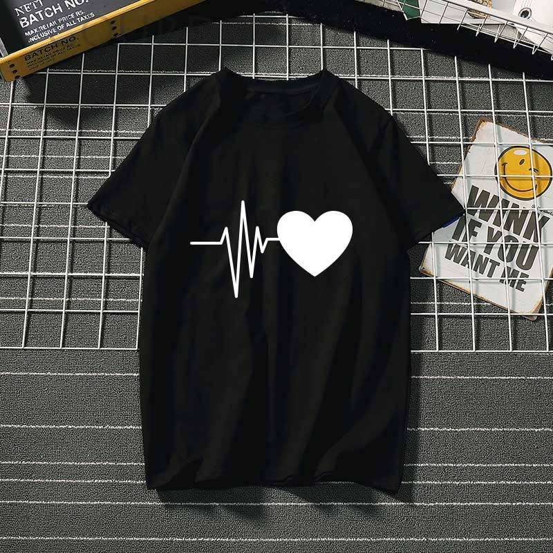 Women's t-shirt Harajuku love t shirt women feminina ladies Than heart ulzzang graphic t shirts women 2019 summer femme clothes