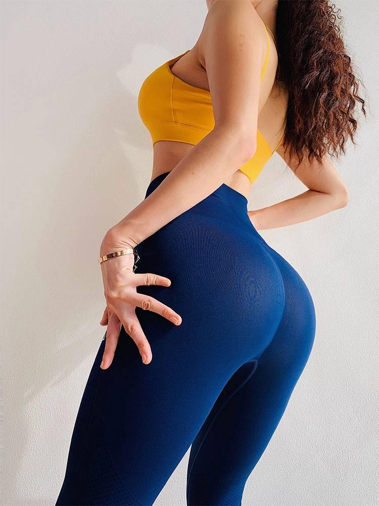 Women's Sports Pants Seamless Leggings Women Fitness Tummy Control Pants Sports Leggings Gym High Waist Skinny Leggings