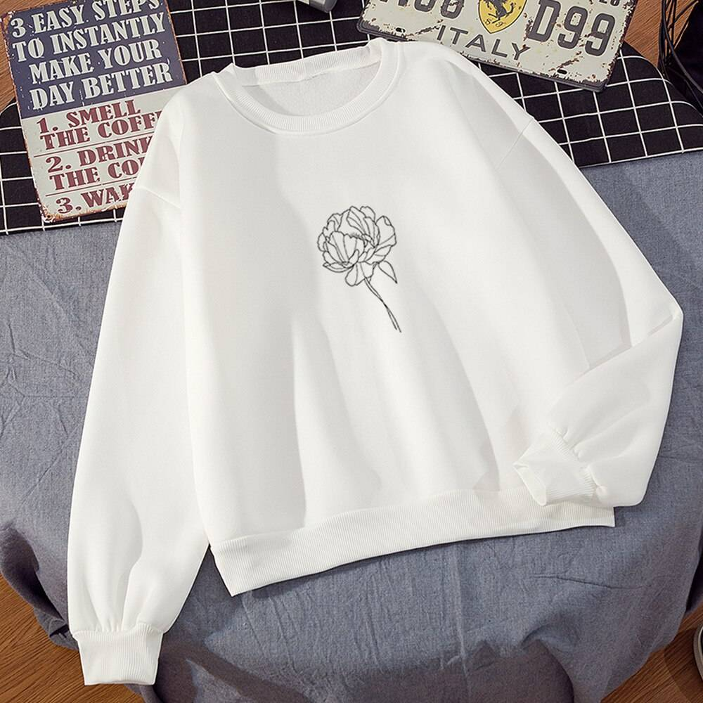 Plus Velvet Sweatshirts Women White Women's Gown with A Hood Hoodies Ladies Long Sleeve Casual Hooded Oversized Pullovers Tops