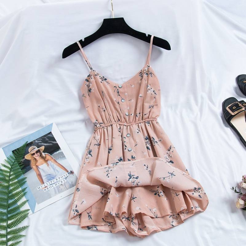 Bohemian Print Thin Strap Sleeveless Dress 3