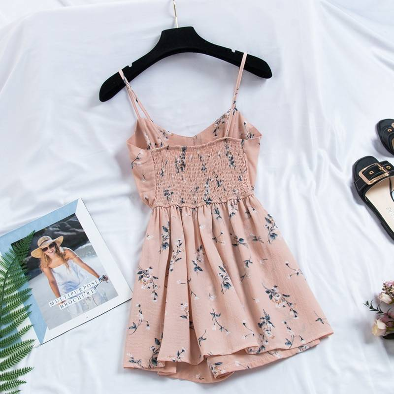 Bohemian Print Thin Strap Sleeveless Dress 4