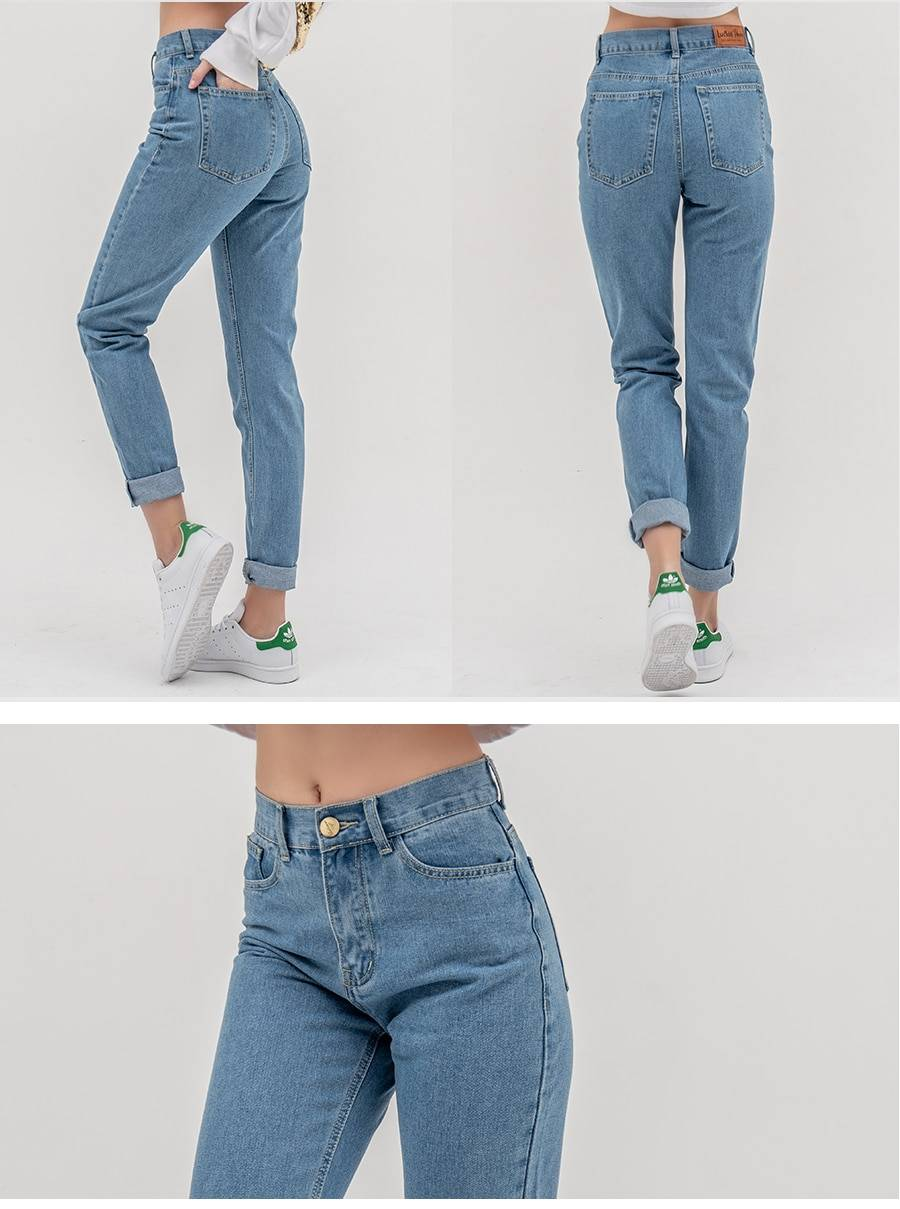 luckinyoyo jean woman mom jeans pants boyfriend jeans for women with high waist push up large size ladies jeans denim 5xl 2020