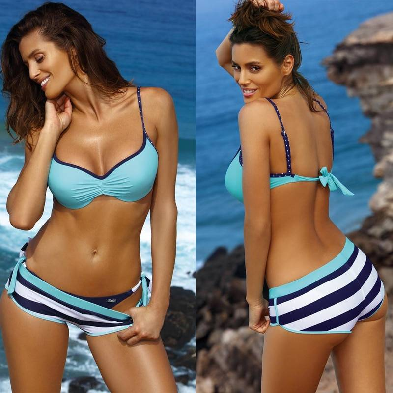 Push Up Brazilian Bikini Set Three Piece 7