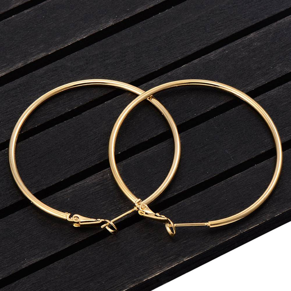 Big Smooth Circle Hoop Earrings 5