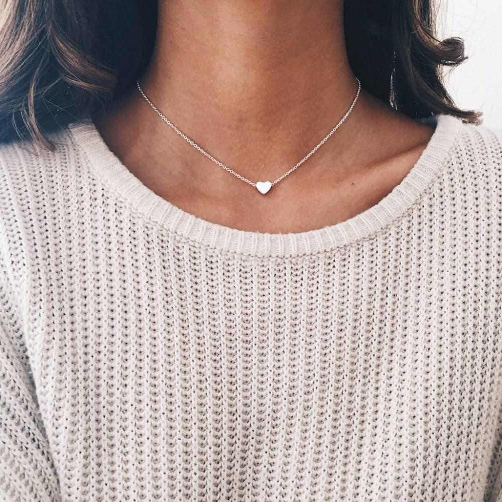Bohemian Moon Star Crystal Heart Choker Necklace for Women Necklace Pendant on neck Chocker Necklace Jewelry Gift