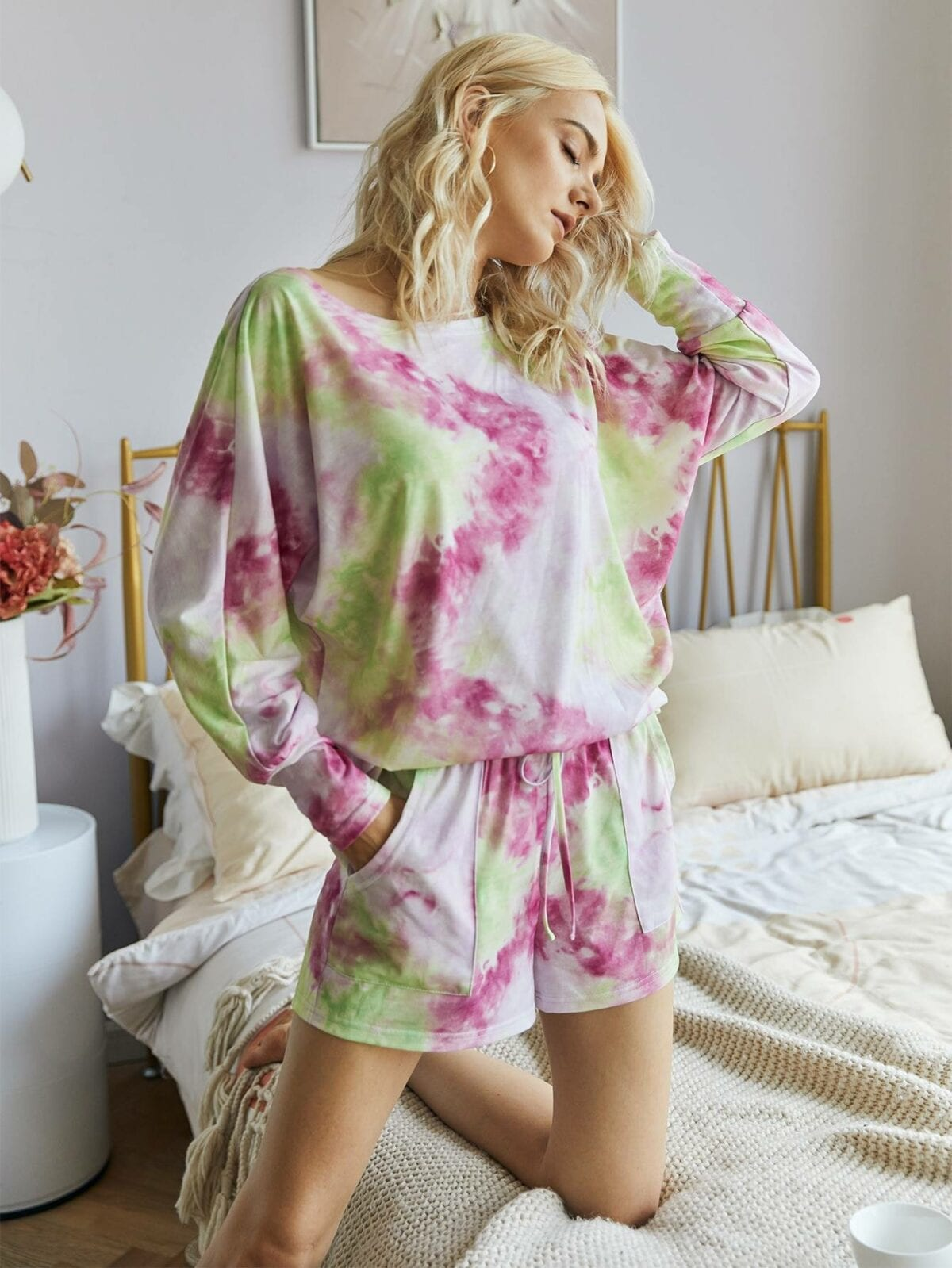 Print Casual Loose Two-Piece Set 2
