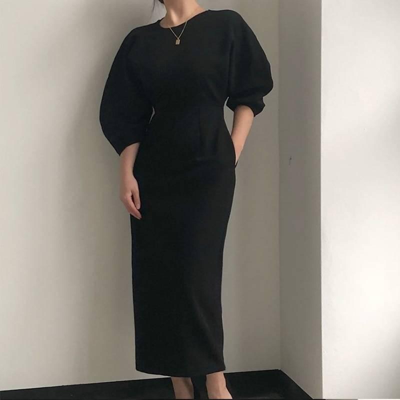 Elegant ladies office midi dress