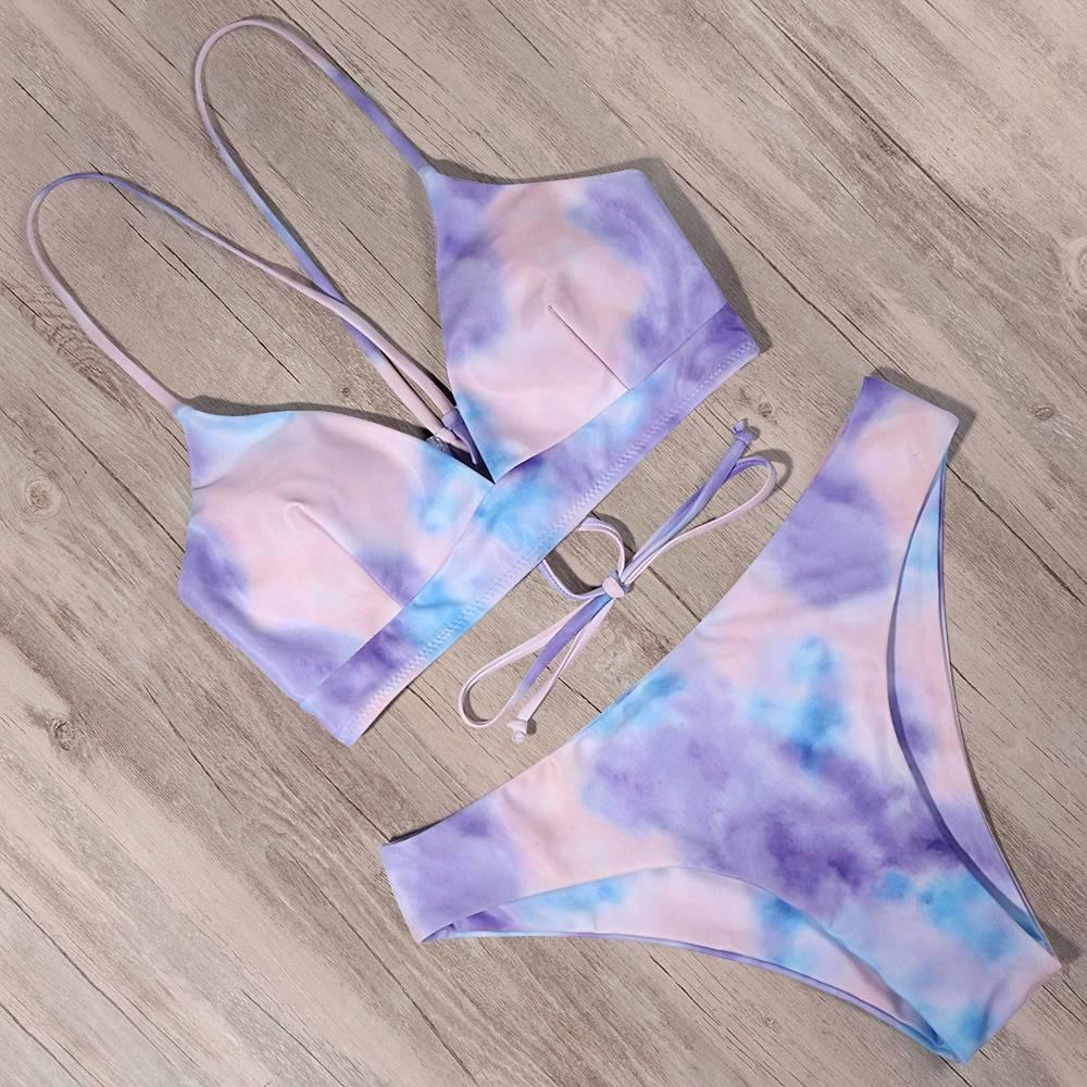 Bandage push up bikinis set