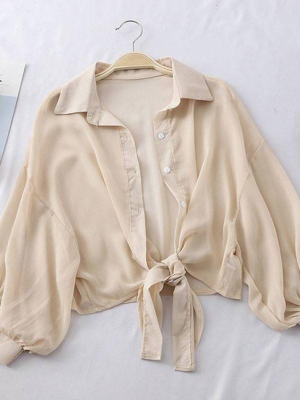 Half sleeve button up blouse shirt