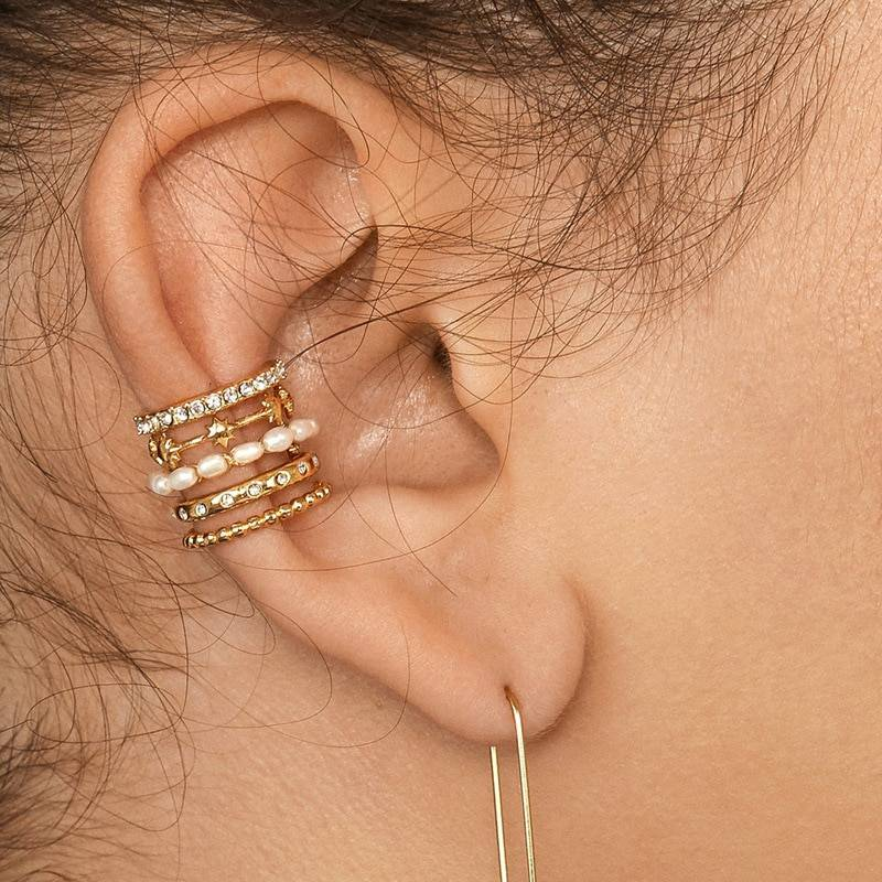 Rainbow Earrings Cubic Zirconia Ear Cuff Set 26