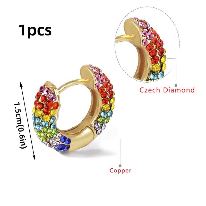 Rainbow Earrings Cubic Zirconia Ear Cuff Set 20