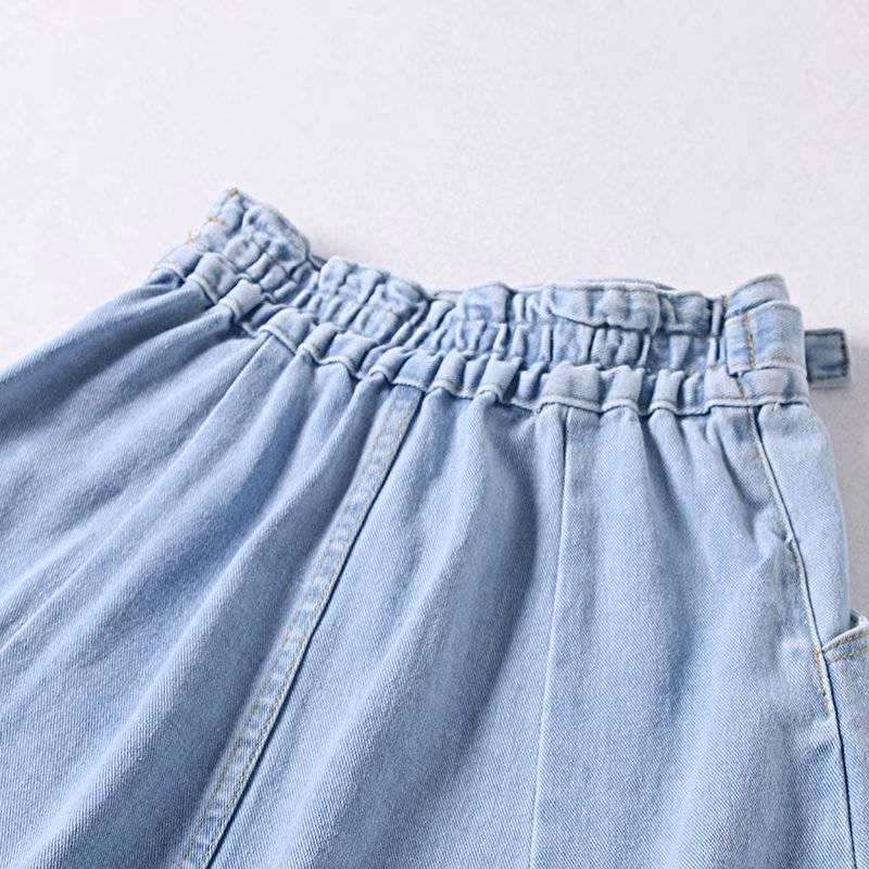 High waist a-line denim skirt